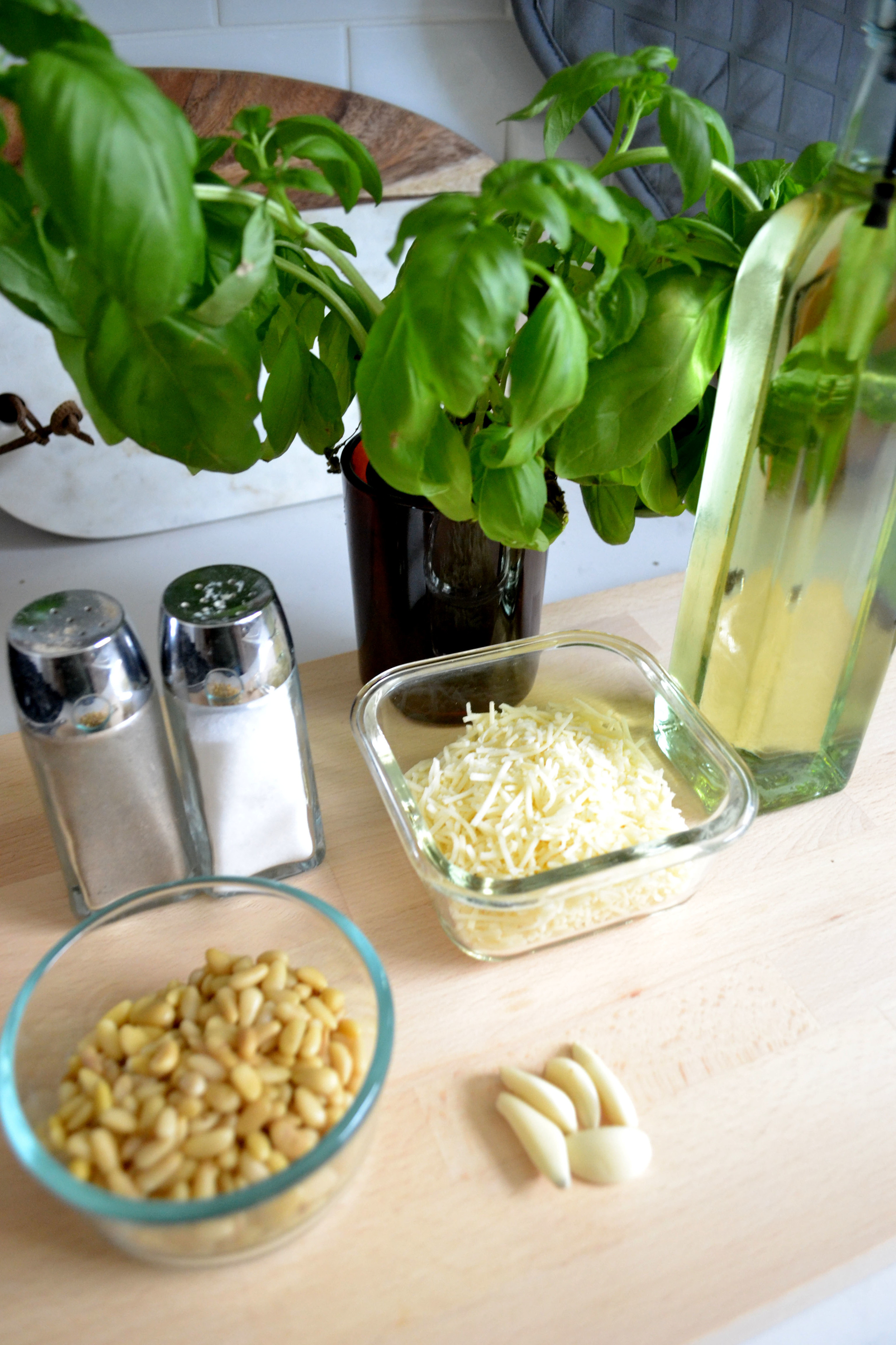 Add a variety of different ingredients to get the perfect pesto.