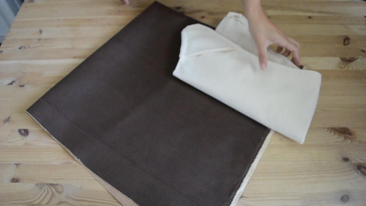 Materials - · Canvas 2-3 Yards· Leather 1-2 Yards· Glue gun· Scissors· Sewing machine and thread