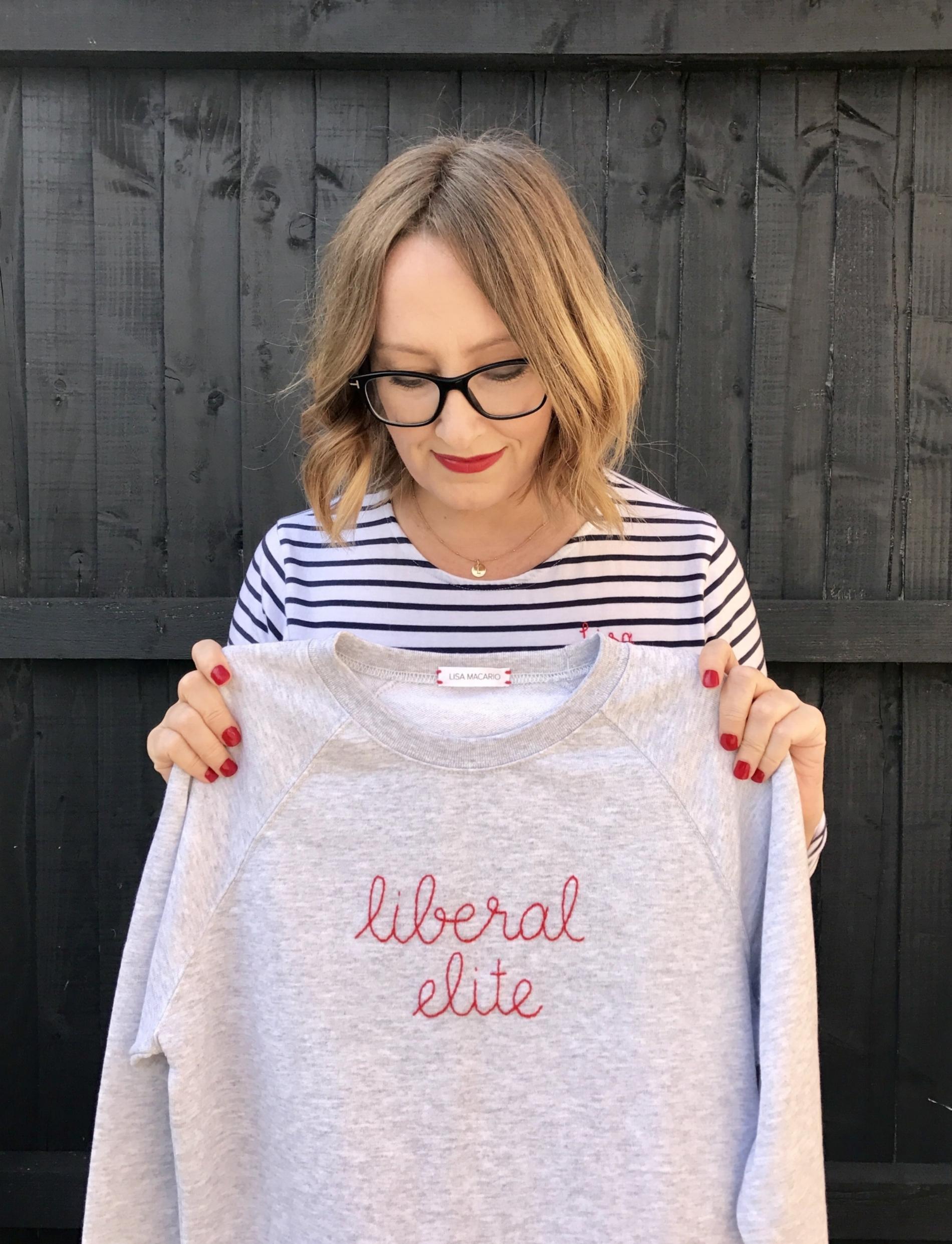 Lisa Macario liberal elite sweatshirt