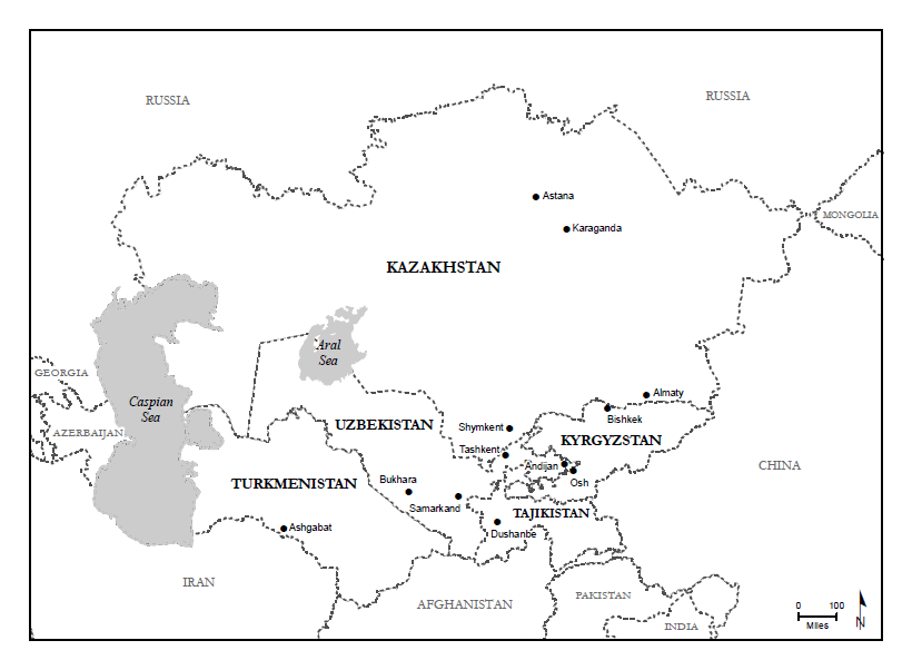 The republics of Central Asia