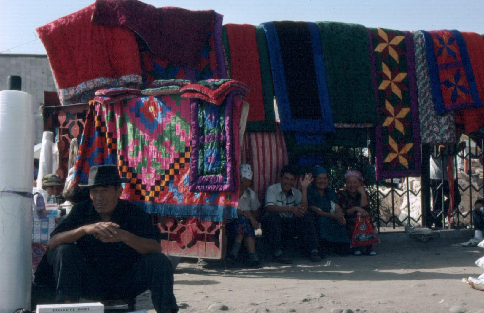 Shirdaks for sale on Osh bazaar