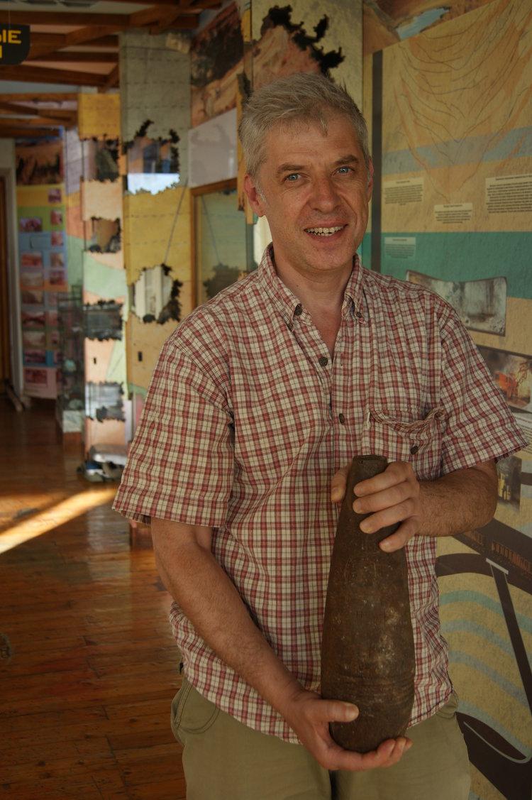 Karaganda EcoMusuem director Dmitry Kalmykov