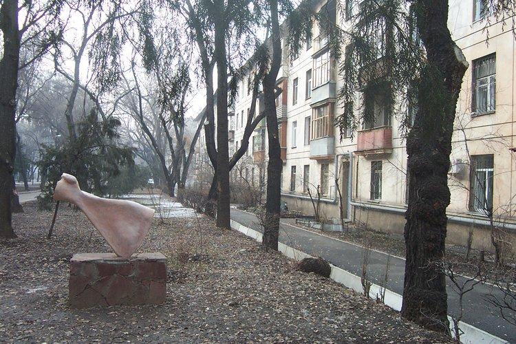 Khrushchevka block on Vinogradov, Almaty city center