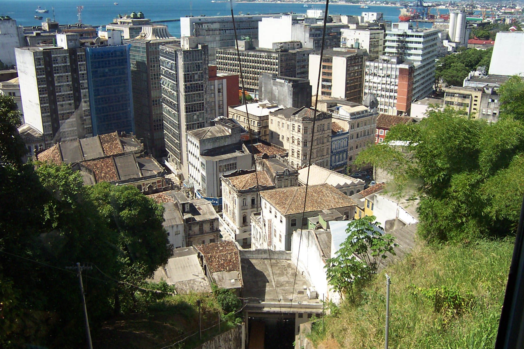 Salvador, the view from the funicular railway