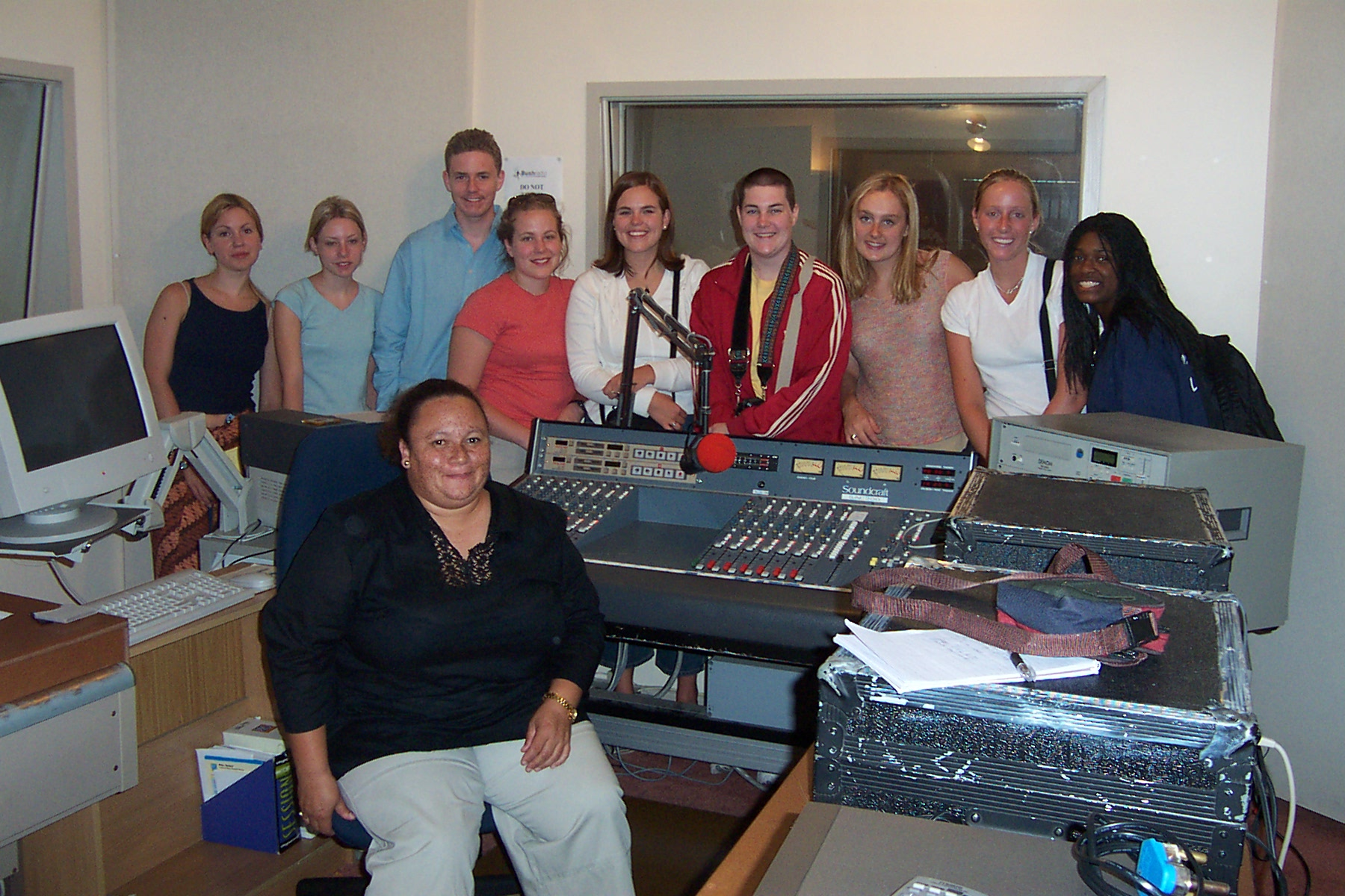 Brenda :Leonard of Bush Radio and Semester at Sea students
