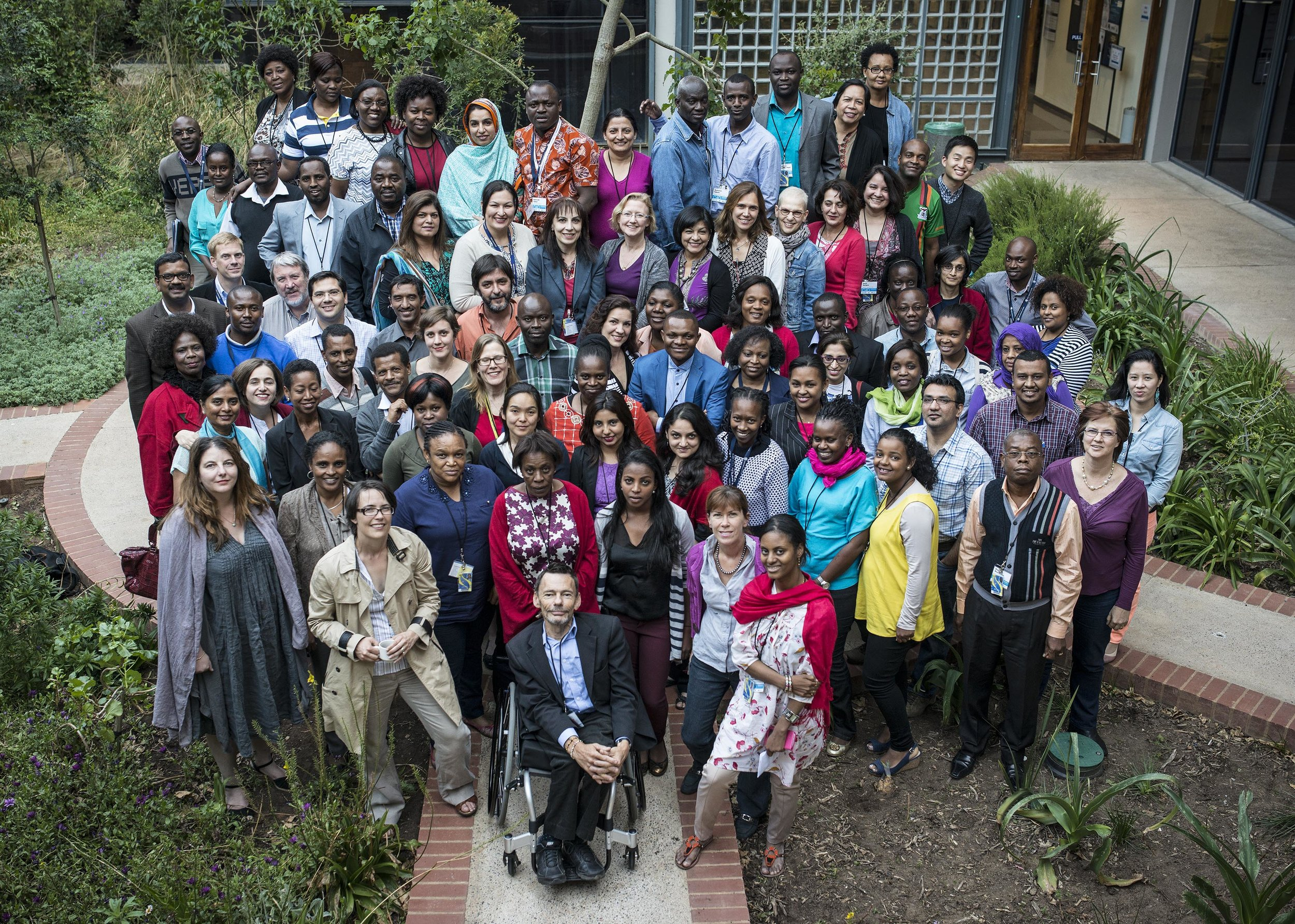 Participants at the UNICEF Global C4D course workshop, University of the Witwatersrand, Johannesburg, 2014