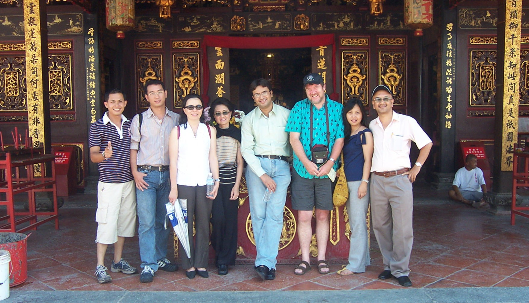 Seeing the sights in Malacca, Malaysia with participants in UNESCO Education for All reporting workshop, Kuala Lumpur, 2004