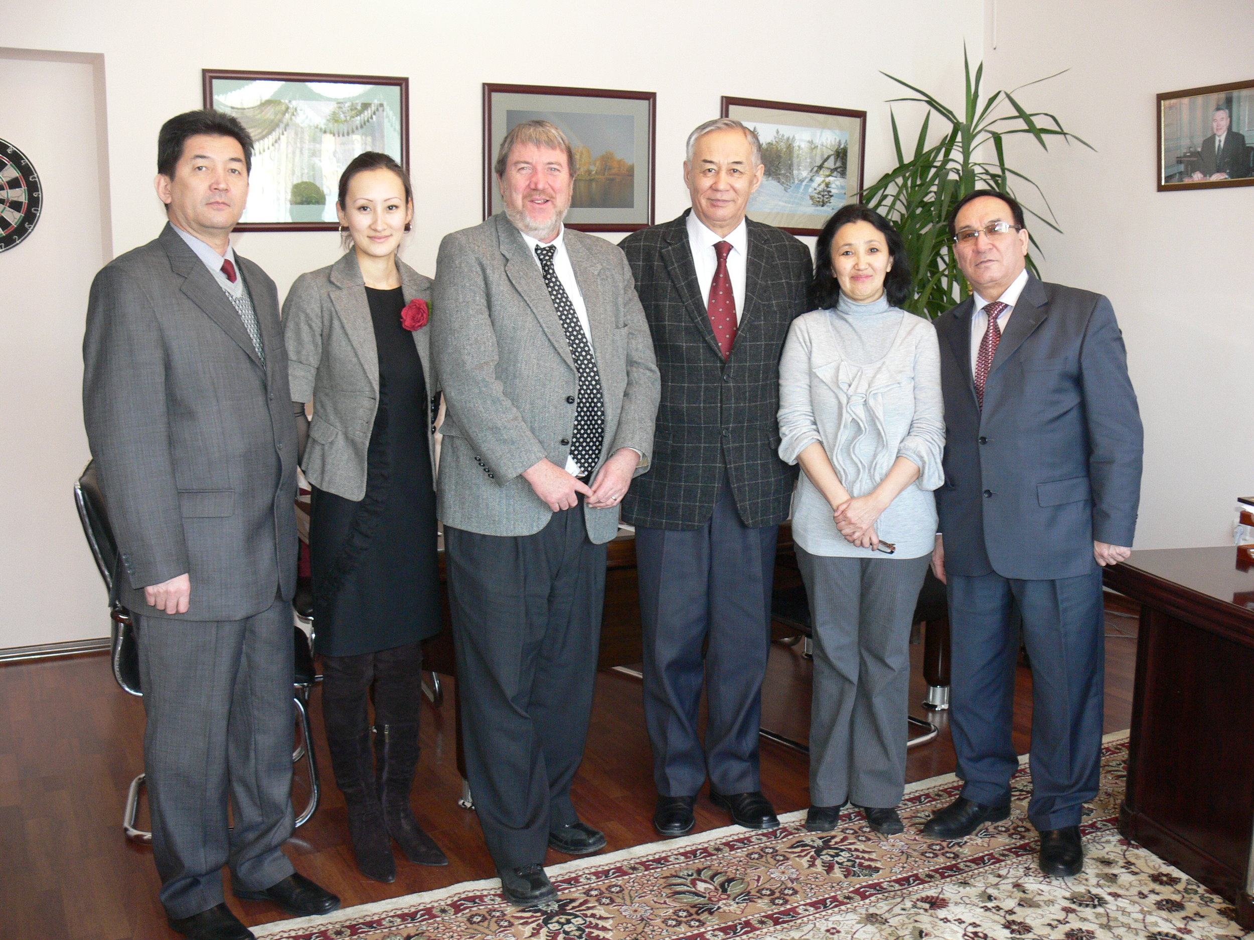 At Semey State University, Kazakhstan, March 2011