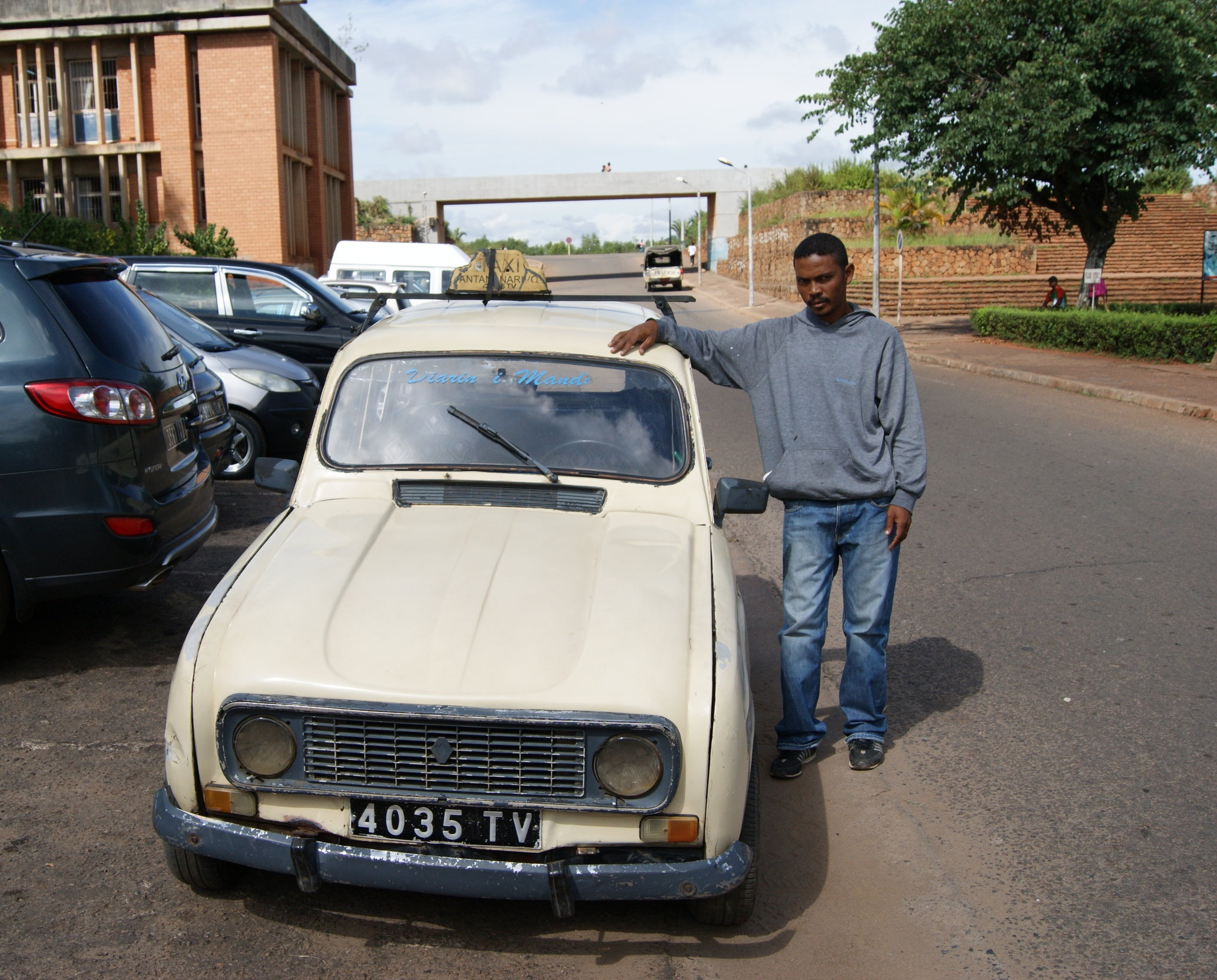 His pride and joy—a Renault 4L