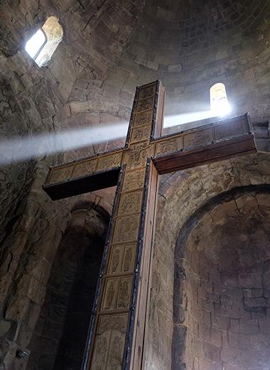 THE CROSS OF ST. NINO, EQUAL TO THE APOSTLES AND ENLIGHTENER OF GEORGIA.JVARI MONASTERY, GEORGIA