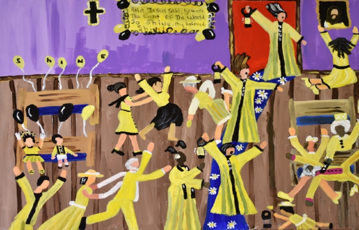 Carolyn's favorite painting by The Stewpot artist Cornelious Brackens, Jr.