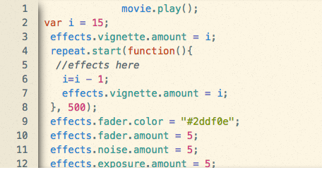video effects with code at summer camp