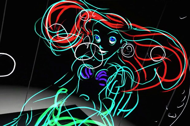 Disney drawing with virtual reality HTC Vive