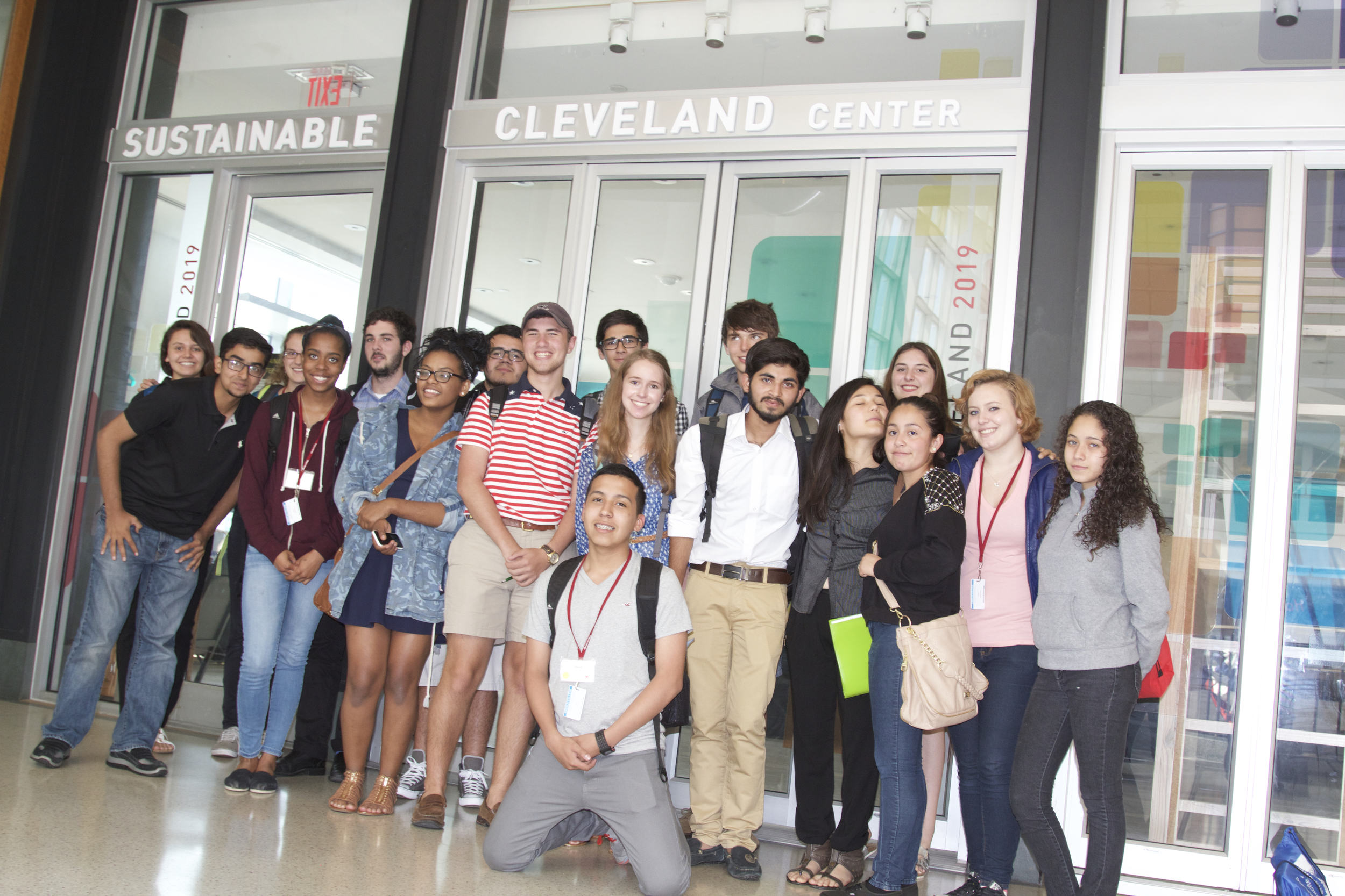 Future of Business '15 students visit the Sustainable Cleveland Center at Tower City