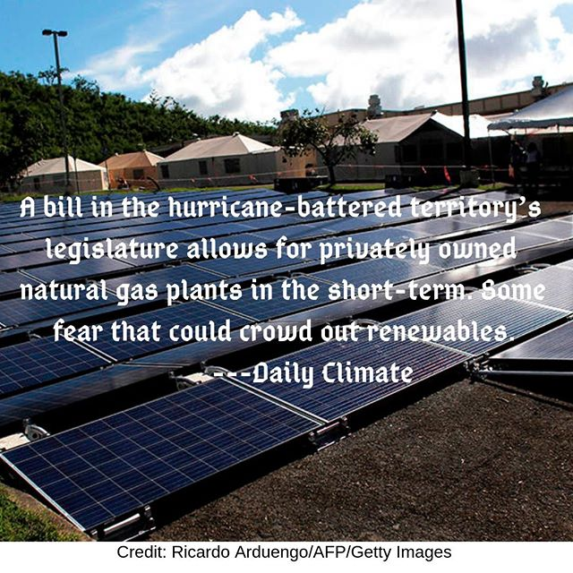 Seizing opportunities when broken systems are open to change, even though the progress is still incremental: Puerto Rico recently set a goal of 100% renewables by 2050, but natural gas use is still part of the process before transitioning to all renewable. http://ow.ly/L8q130mAIl1
