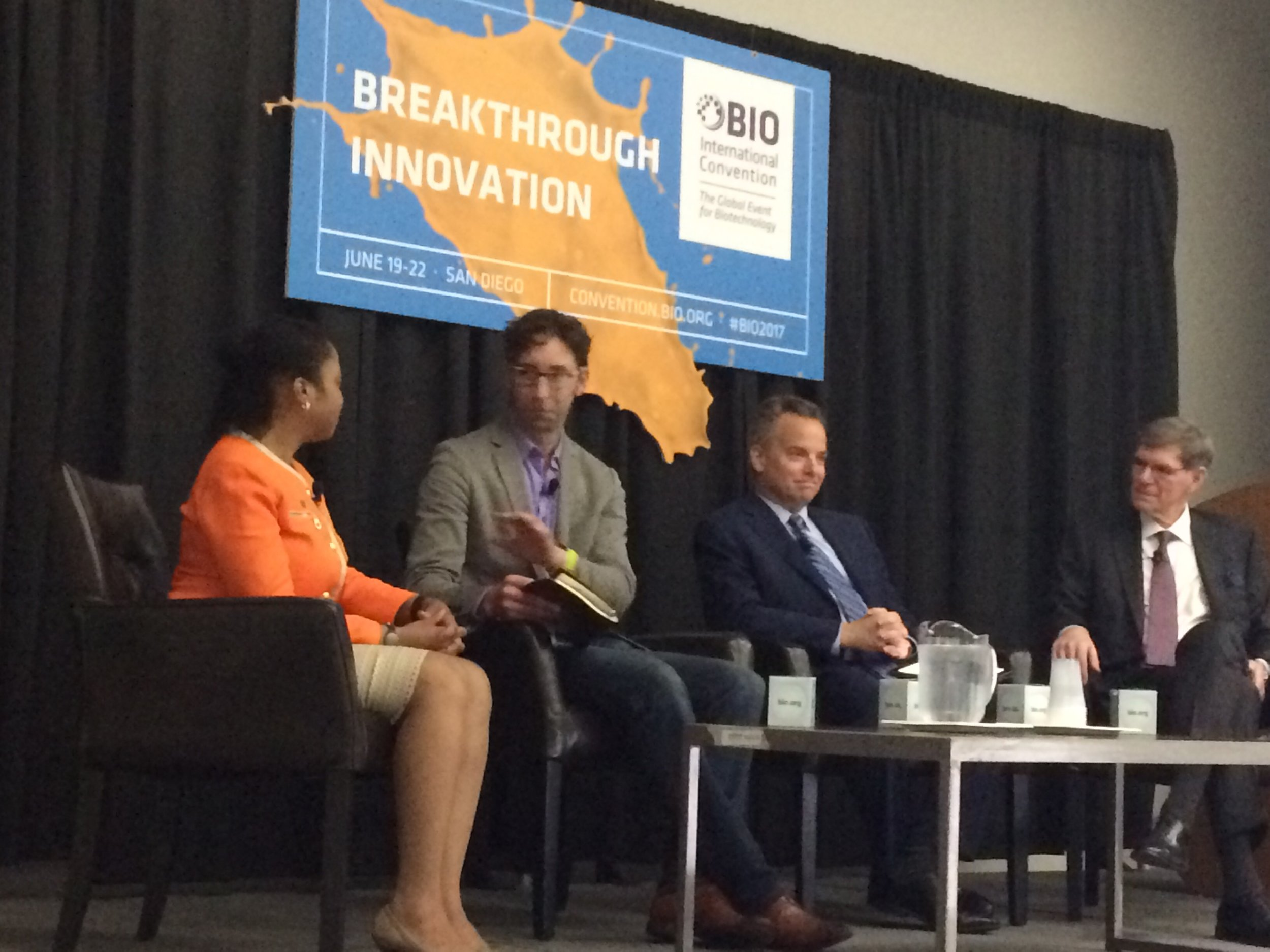 Panel at BIO 2017: A World Without Disease: Can We Get There?  Mike Cobur, Research! America Donna Cryer, JD, Global Liver Institute William Hait, Janssen Research & Development, LLC Mark McClellan, MD, PhD, Duke University Luke Timmerman, Timmerman Report