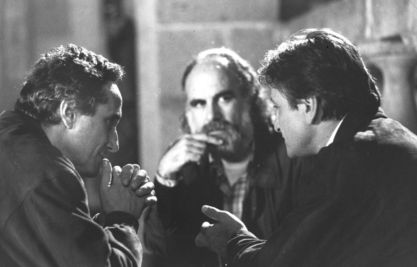 Marco Bellocchio, Giuseppe Lanci e Vittorio Mezzogiorno sullo stesso set di  La condanna