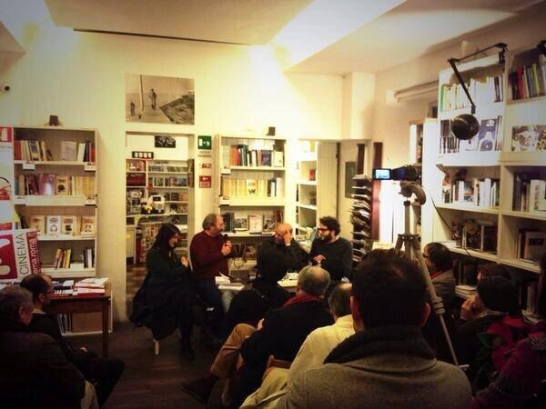 Silvia Tarquini, Giuseppe Piccioni, Luca Bigazzi e Alberto Spadafora, libreria, inverno 2012