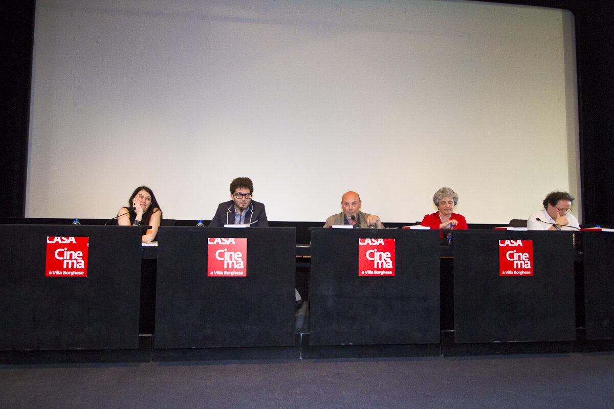 da sinistra: Silvia Tarquini, Alberto Spadafora, Luca Bigazzi, Caterina d'Amico, Enrico Magrelli