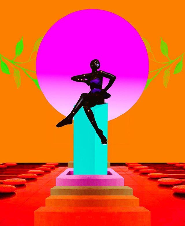Sacred geometry . . . (title stolen from my gal @domenicamgarcia ) . . . ⠀ #sunchild #contemporaryart #digitalart #digitalartists #retrofuturism #mystical #urbanoutfitters #artist #tarotcards #collagee #bohemianartist #afroart #afrofuturism #nycart #femaleartist #collagestash #blackwoman #blackwomen #afrofuture #afrofuturism #futurism #universe #blackmodel #collagist #collageclub #newmedia #landscape #surreal #experimental #magick