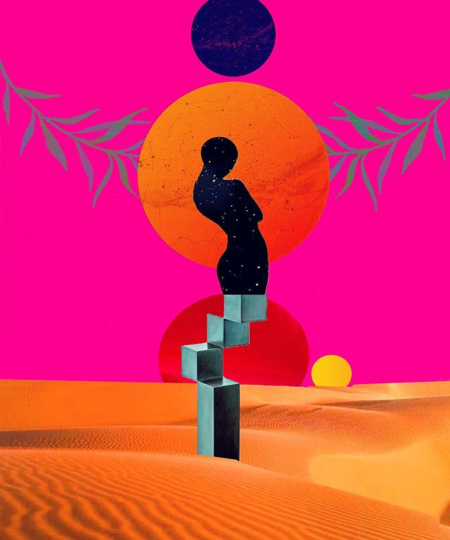 In her rightful place . . . . .  #contemporaryart #soul #collageart #sunchild #afropunk #surreal #newmedia #collagear  #blackwoman #artist #arte #photoshop #mixedmedia #collage #collagist #collageclub #femaleartist #afrofuture #bohemianart #sunchild #flowerchild #collage_expo #nyart #curator #gallery #exhibit #afrobeauty #magic #urbanoutfitters #collageartist