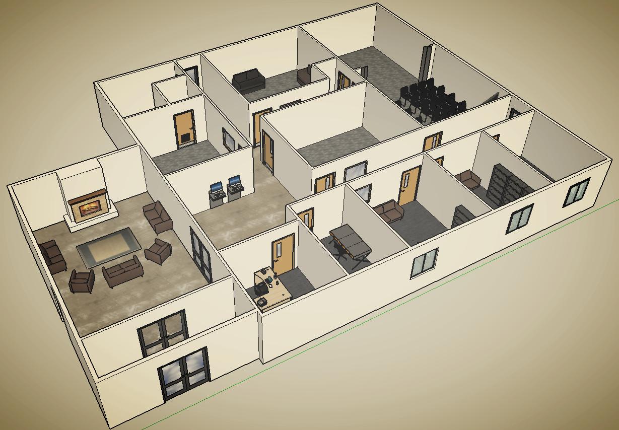 Current design proposal for building renovations.