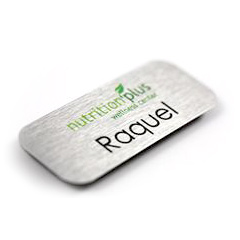 Full Color  Printed directly onto thick plastic.   Engraved  Reveals the second color and creates a two-color plastic name tag.   Multi Color  Printed full color logo on a plastic engraved name tag.   Custom shapes  Create a shape that is distinctly yours.   Name only tags  Plastic or metal.