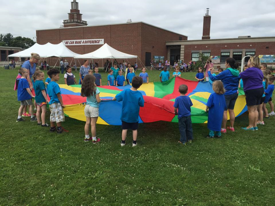 Using parachute on Activity Day