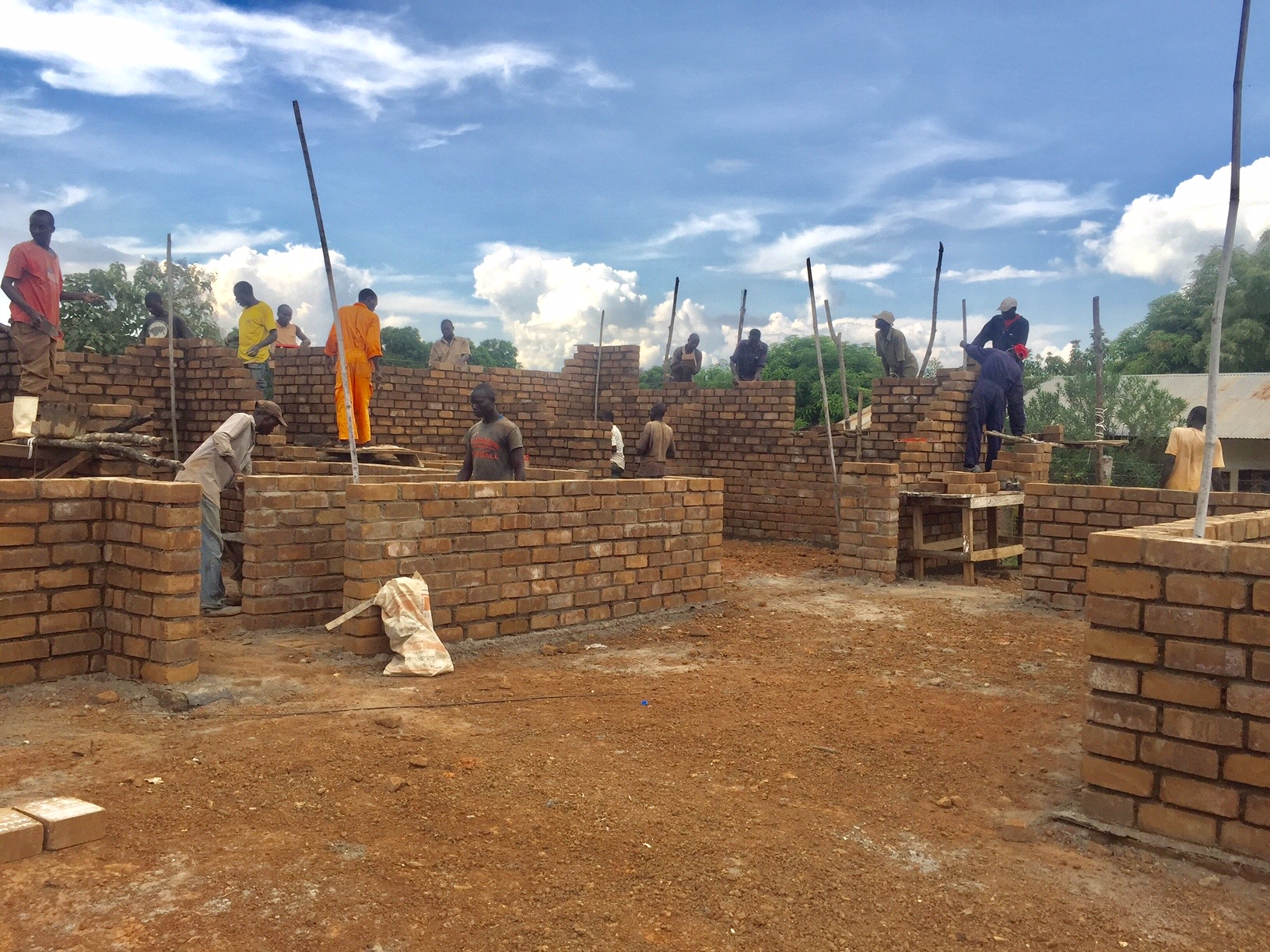 Over 100 employed now building with bricks made from training