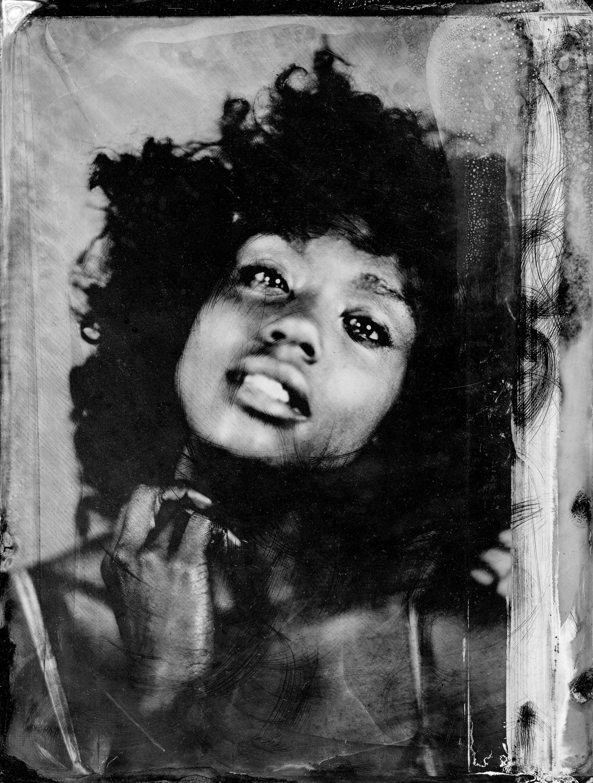 """Amélie"", Collodion humide: Tintype 8x10"