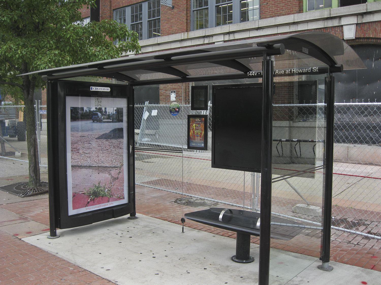 Bus shelter poster