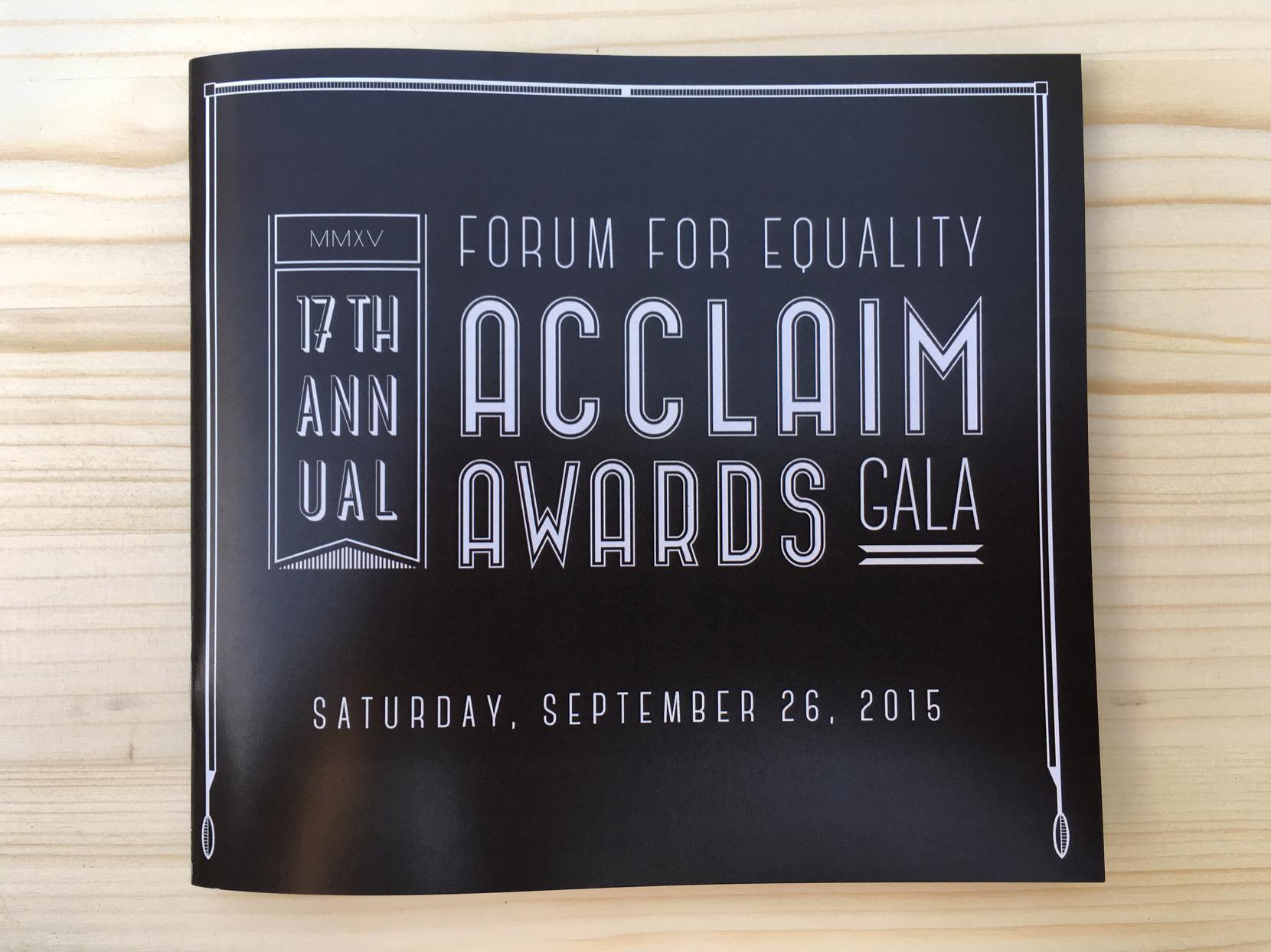 2015 Forum for Equality Acclaim Awards