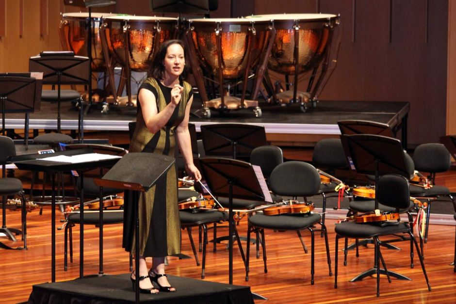 Anita Collins conducting and teaching