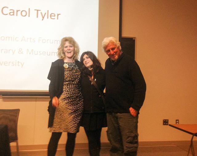 (l. to r.) Carol Tyler, Phoebe Gloeckner, Justin Green