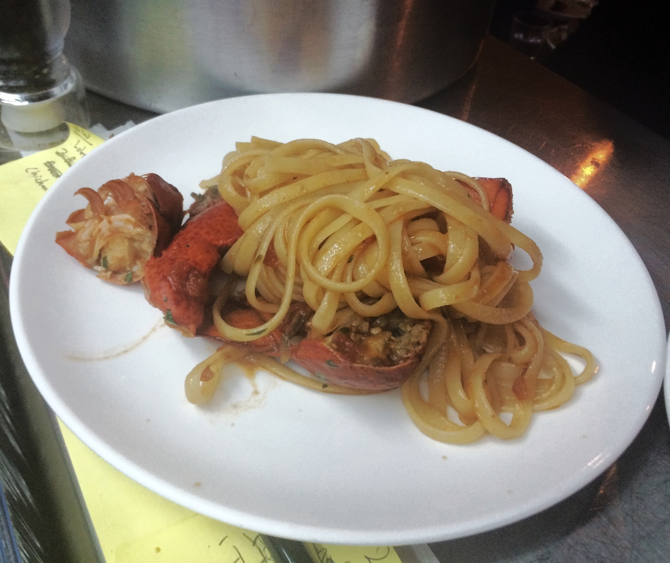 Maine lobster linguine pasta