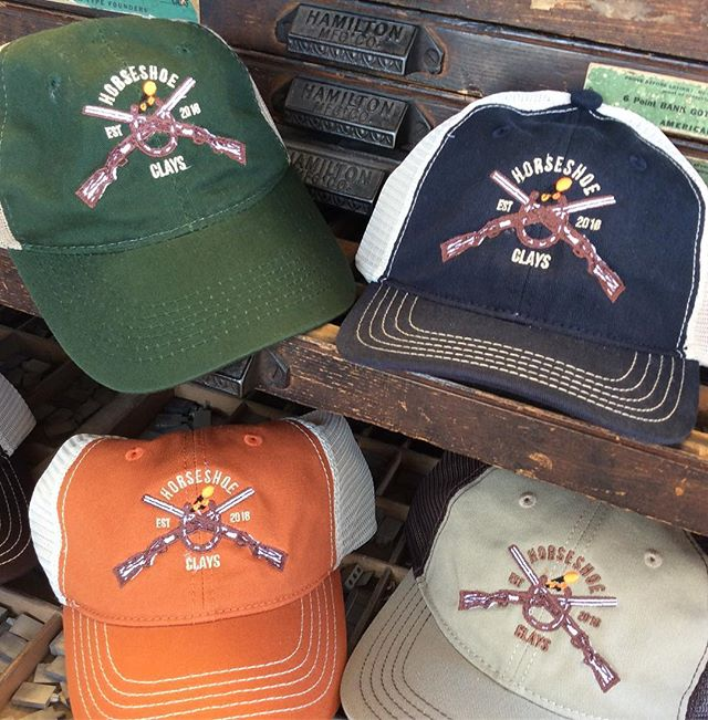 Trucker caps designed and produced for the guys  Happy 😊 shooting  Let us help you with your next project or event stop by and see what all we do . . #thomasville #thomasvillega #hunting #sportingclays #truckercaps #caps #embroidery #outdoorsports #skylinegraphicsmedia