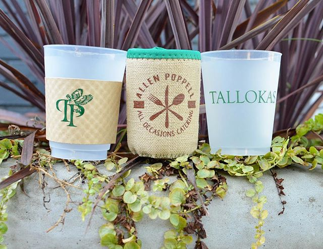 Koozies, frosted glasses, drink sleeves and more - the personalization options are endless for your next event! These also make great housewarming gifts for someone with a new home! Call us at 229.228.7575 or swing by to discuss creating a custom order for you! #frostedcups #partyware #personalizedglasses #plantation #celebrate #catering #skylinegraphicsmedia #skylinegraphics