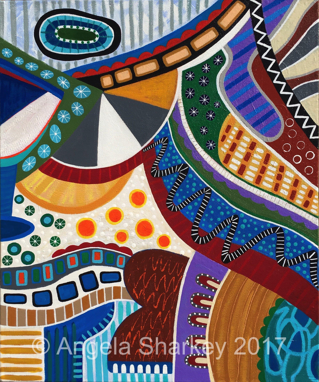Heart Of Hope    Acrylic on Canvas-