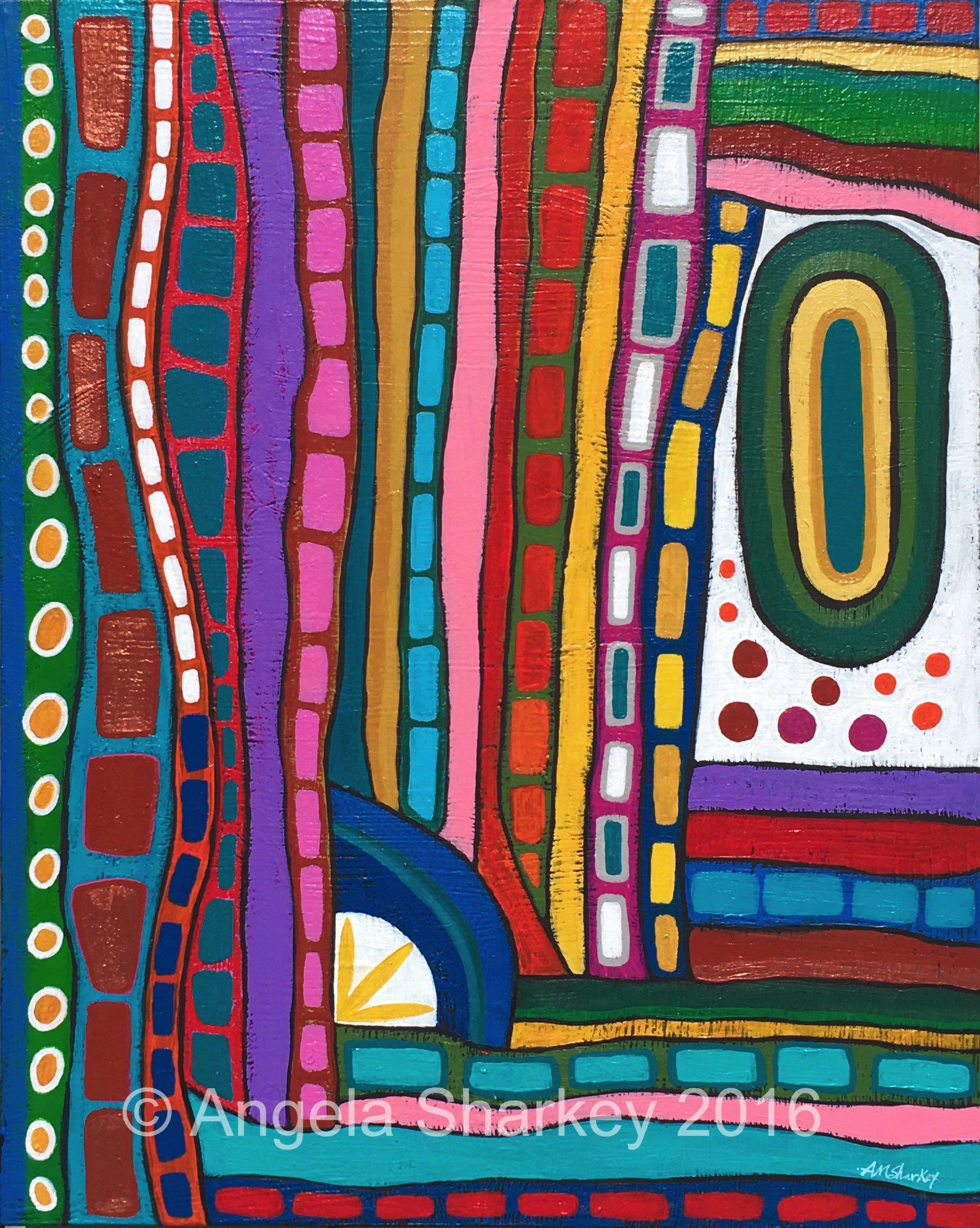 Rainbow's End    Acrylic on Canvas-