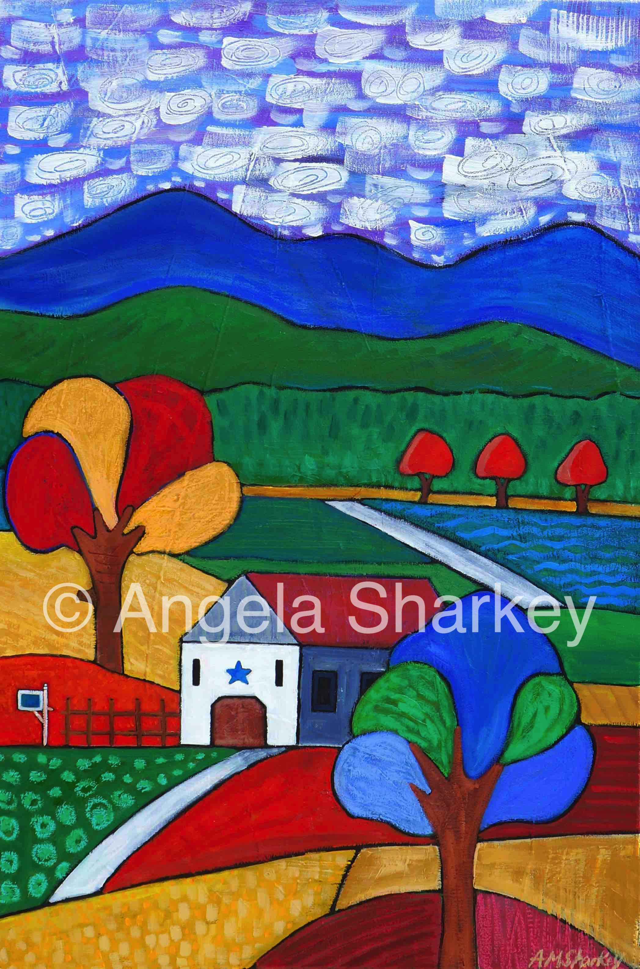 Changing Seasons    Acrylic/Oil on Canvas-