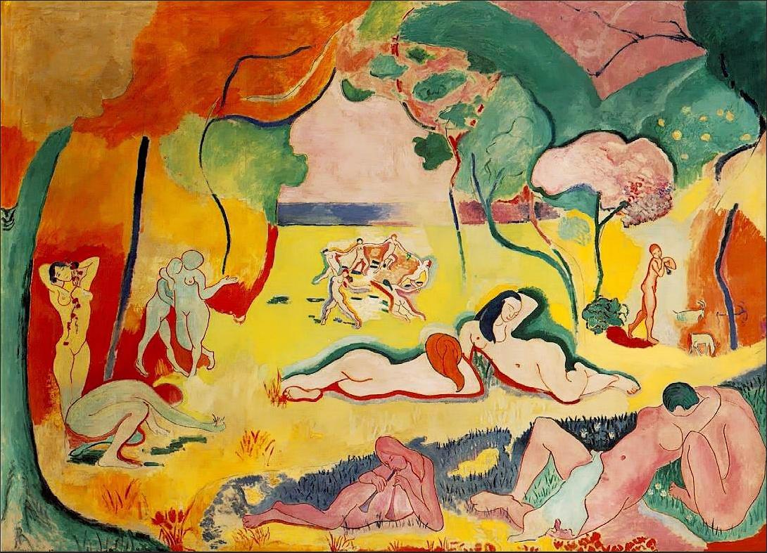 Henri Matisse,  Le bonheur de vivre , 1906