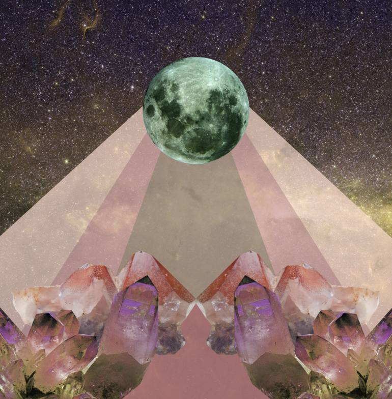 Full Moon , digital collage by Marina Molares