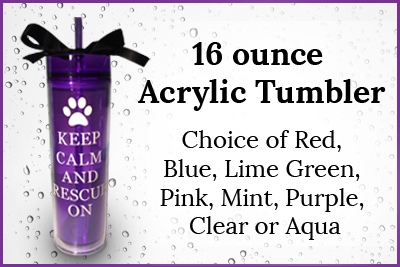 Could these tumblers be any cuter?! 10% of each tumbler sold go directly to I.C.A.R.E. Dog Rescue. Start shopping!