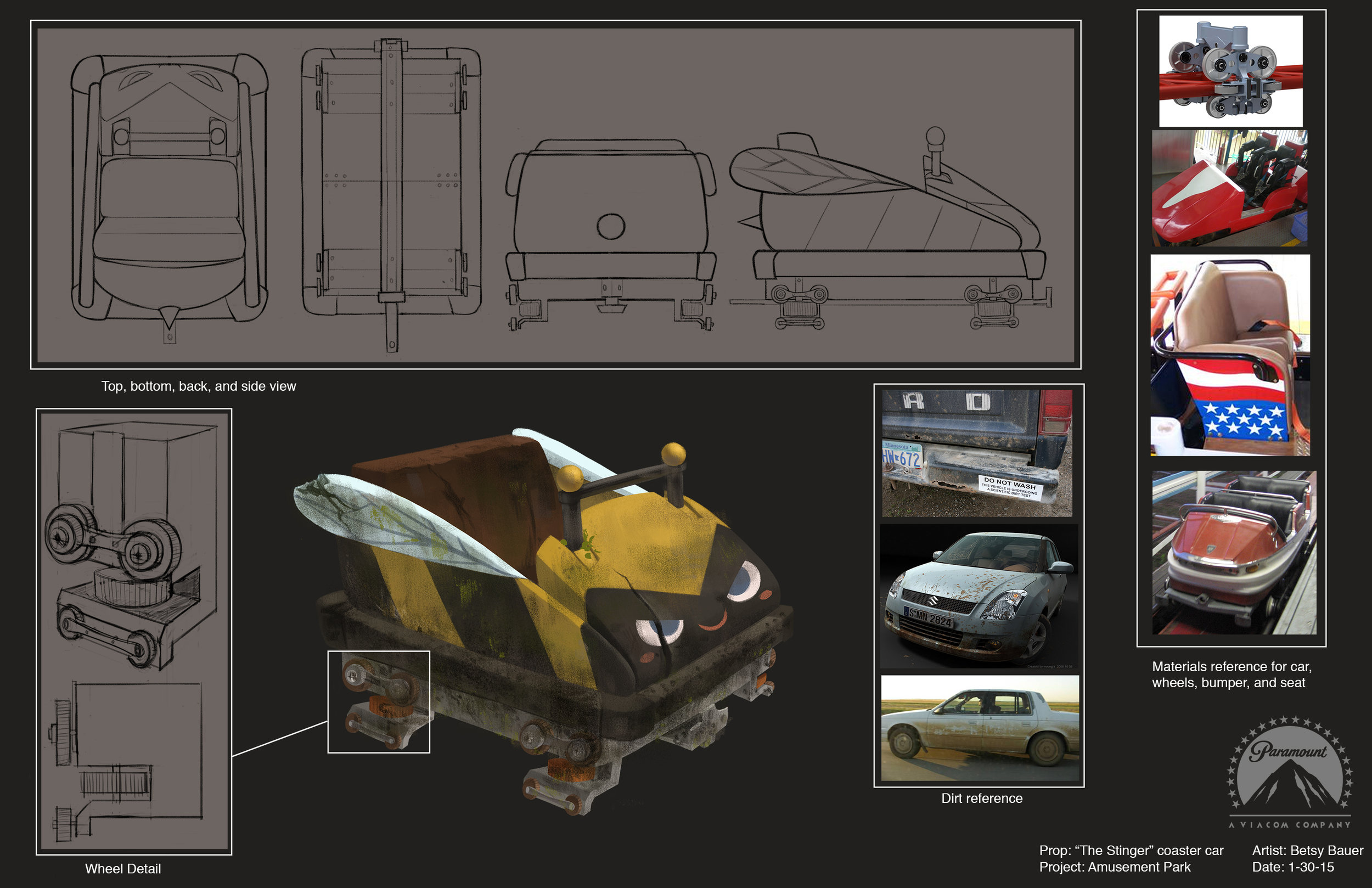 This was the final cart design chosen from the explorations above.