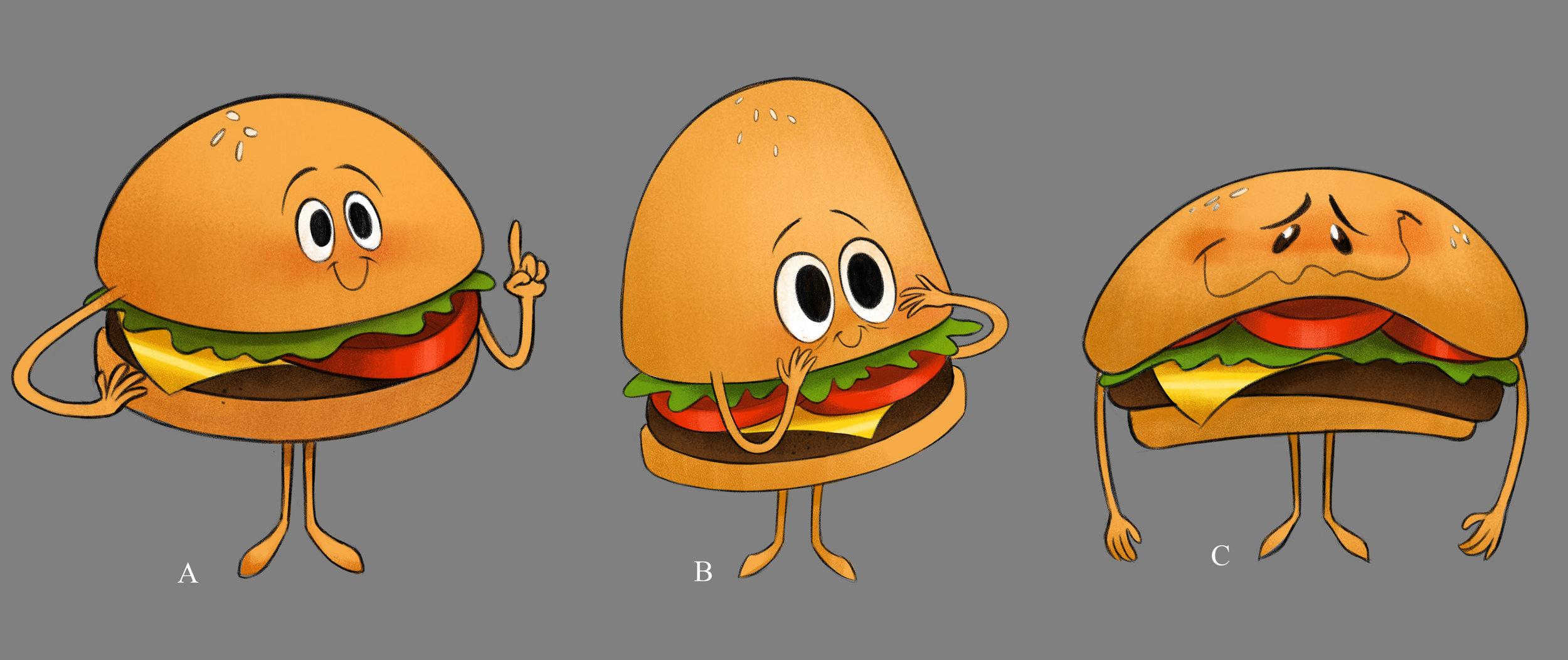 Explorations for the hamburger emoji.