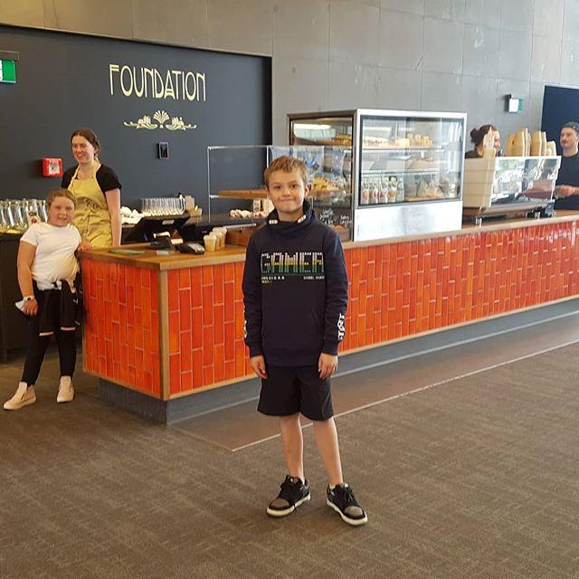 Foundation kiosk, Turanga first floor. @cafefoundation