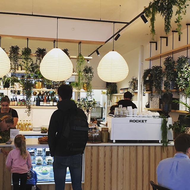 First day @bustergreensfoodroom just stopped by for a quick coffee and have a wee peek at the fitout. They've done an amazing job in a short time frame. It super fresh and a very comfortable place to get your fix. Proud to say we helped out with pulling the design ideas together and getting the joinery details sorted. Bravo! #cafedesign #architecturaldesignersnz