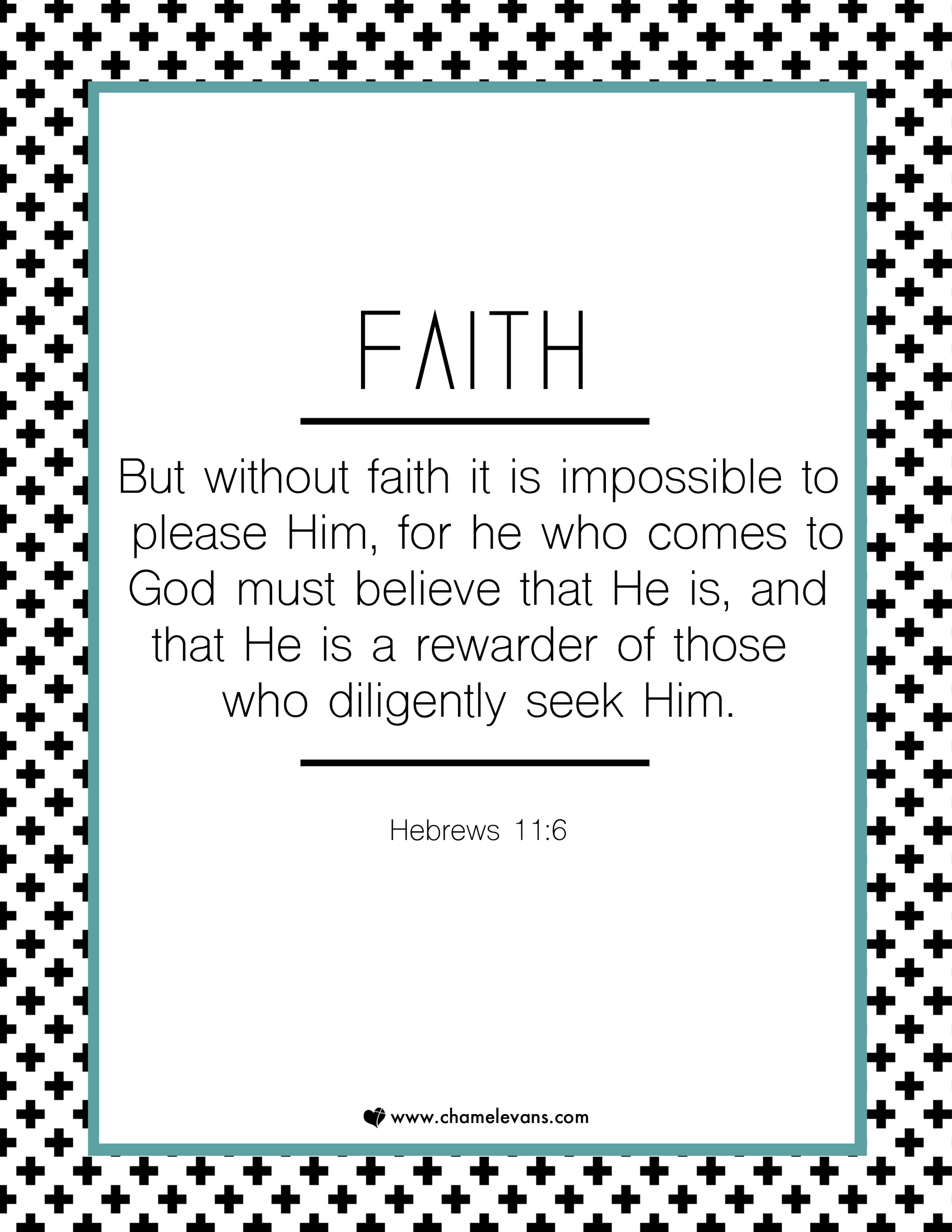 FREE SCRIPTURE ART PRINTABLES - faith  - STAND IN GOD'S TRUTH | WWW.CHAMELEVANS.COM