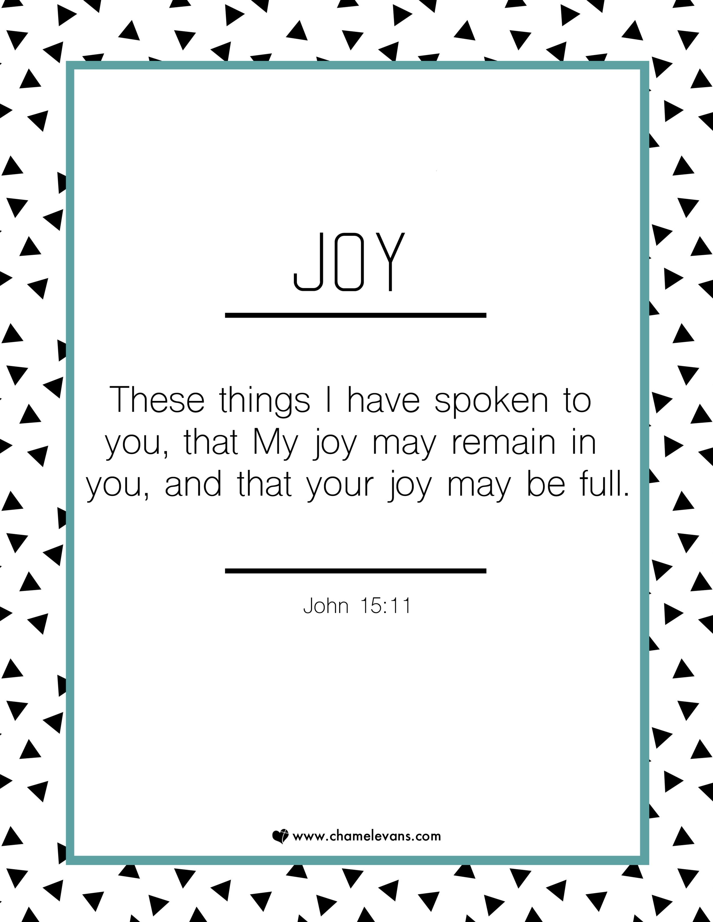 FREE SCRIPTURE ART PRINTABLES - joy  - STAND IN GOD'S TRUTH | WWW.CHAMELEVANS.COM