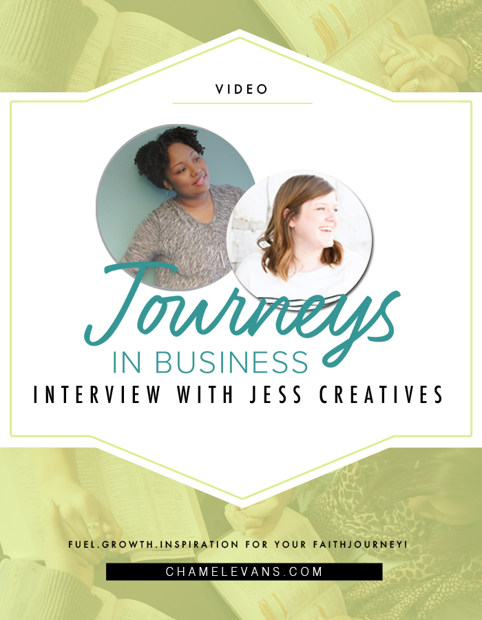 Journeys in Business Interview with Jess Creatives | www.chamelevans.com